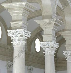 italian limestone column